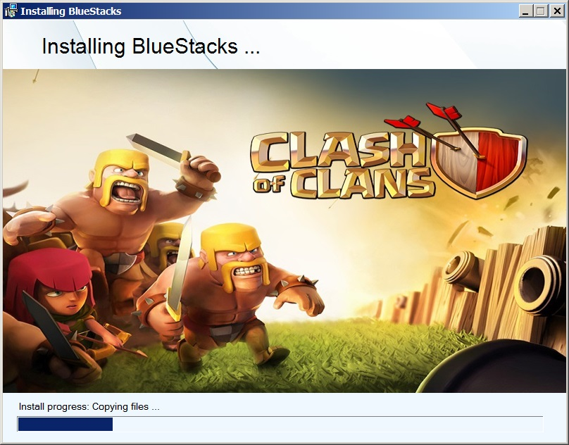 Баннеры игр при установке BlueStacks