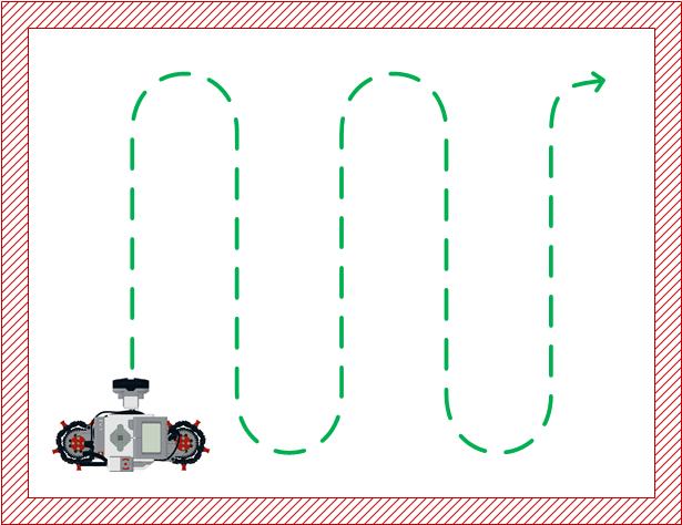 Схема движения робота мойщика пола LEGO EV3