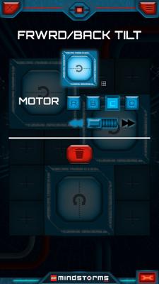 Настройка первой кнопки в приложении LEGO Mindstorms Commander для управления Селеноходом