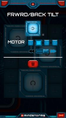 Настройка второй кнопки в приложении LEGO Mindstorms Commander для управления Селеноходом