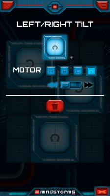 Настройка третьей кнопки в приложении LEGO Mindstorms Commander для управления Селеноходом